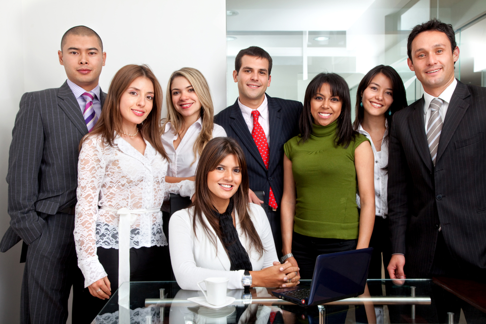 Group of young business people at the office